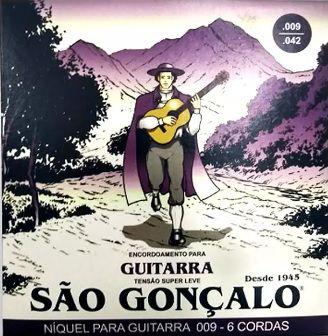 São Gonçalo Encordoamento Para Guitarra 0.9 Sg11026