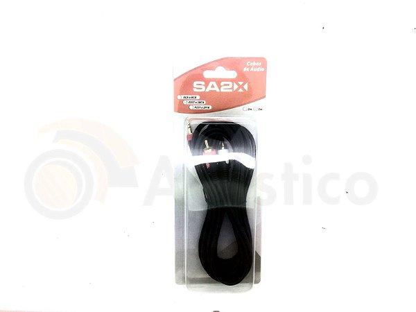 Santo Angelo Cabo De Áudio 0,20mm 1 P2 St X 2 Rca 3 Mts Ca7
