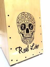 Real Line Cajón Inclinado Acústico Mod Caveira Claro RL03