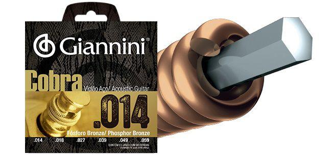 Giannini Encordoamento Violão Aço Fosforo Bronze 014 GEEFLSX