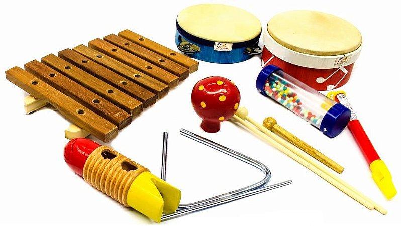 Jog Bandinha Rítmica Musical Percussão 8 Peças P3661