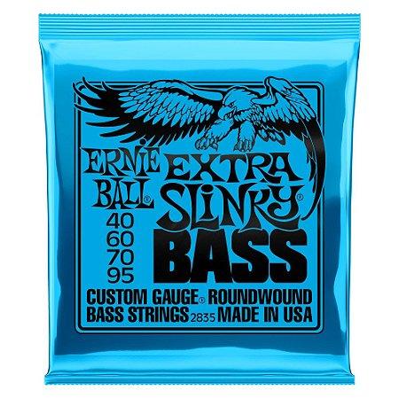 Ernie Ball Encordoamento P/ baixo 040-095 4 Cordas Extra Slinky