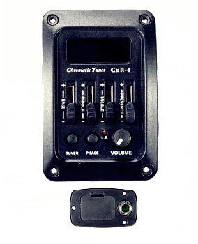 Deval Kit Equalizador 4 Bandas Afinador e Captador CRN4