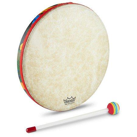 "Remo Hand Drum 12"" Pol Infantil Tambor com batedor KD0112"