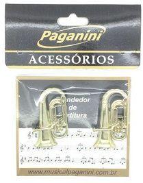 Kit Paganini Prendedor de Partitura + Chaveiro Tuba - Kttuba