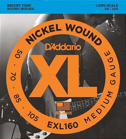 D'Addario Encordoamento Baixo 4 cordas 0.050 - 0.105 EXL160