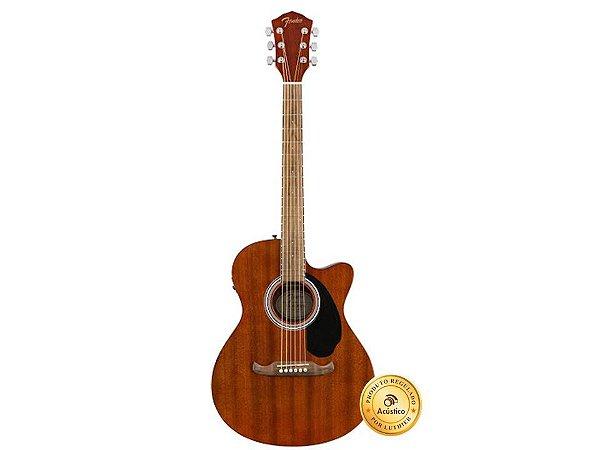 Fender Violão Eletroacústico Concert Walnut Cutaway Fishman Mahogany FA-135MA