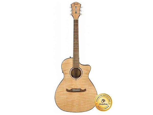 Fender Violão Eletroacústico Auditorium Cutaway Fishman Natural FA-345CE