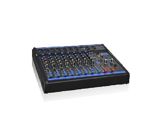 Oneal Mesa de Som Analógica 8 canais P10 / XLR / USB / 1 Auxiliar OMX8USB