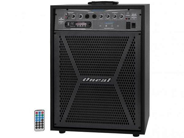 Oneal Caixa de Som Multiuso 150w USB / SD / FM / Bluetooth / Display / Controle remoto OCM4112