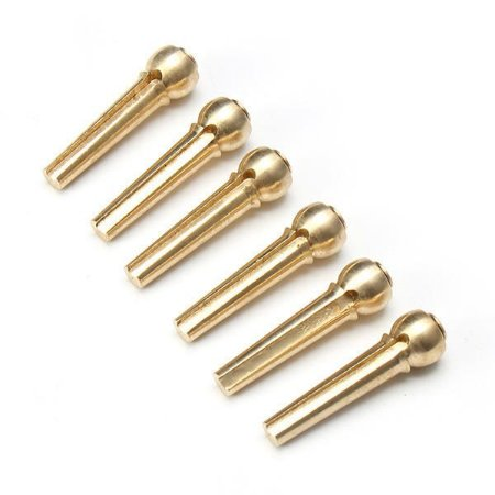 CN 6 Pinos de Metal Bronze para Ponte Fixa Corda Violão