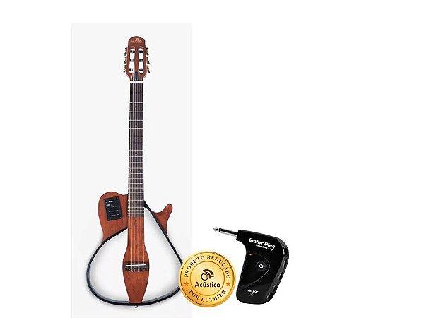 Kt Marquês Violão Elétrico Nylon Flat Fishman + Amplificador de ouvido VN-18NTGP1