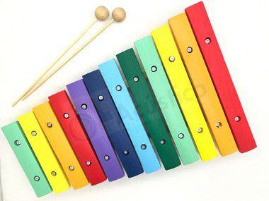 KT Paganini 2 Xilofone Infantil 12 Notas Colorido 31x21 Cm Pxl812 OA084