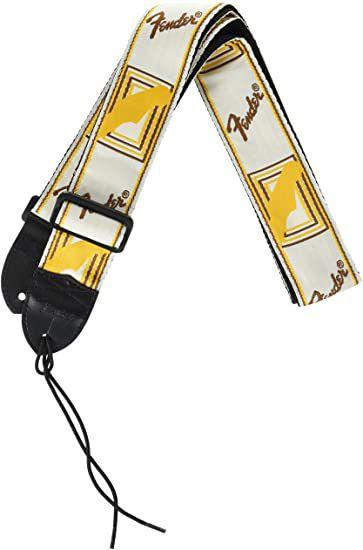 Fender Correia Vintage Branca Nylon Monograma Marrom 57961