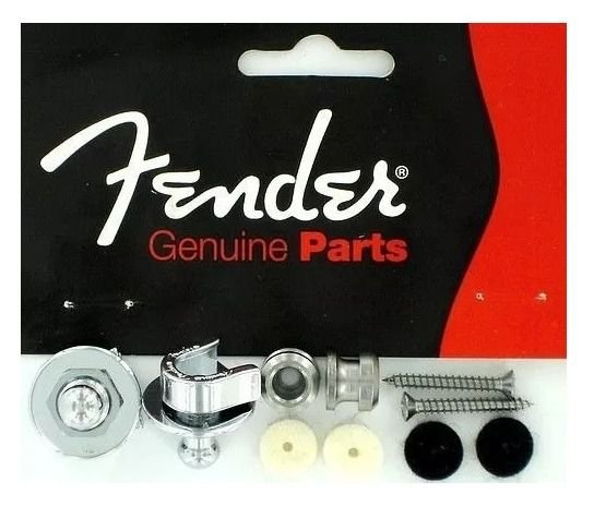 Fender Strap Lock Cromado Trava Para Correia 58821