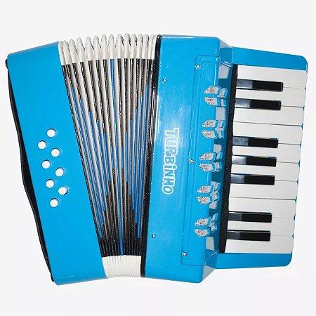 Acordeon Sanfona Infantil 104 Azul Turbinho 104-LB