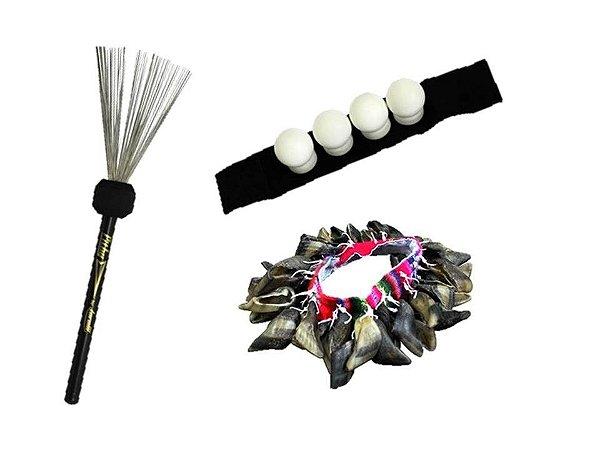 Kit Vassourinha Pithy aço cajón com canela shaker e unha de cabra