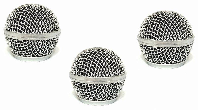 3 Globo grelha grille microfone shure