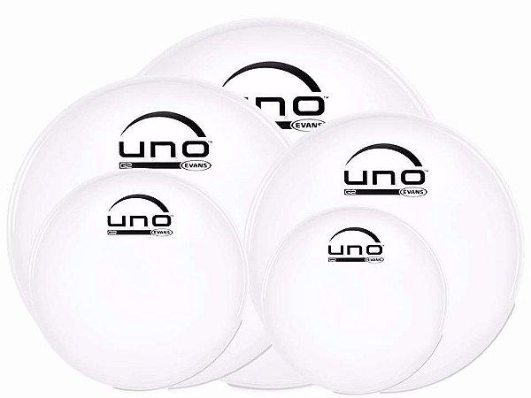 Evans Uno Kit De Pele 10 12 14 16 22 Transparente UNOKIT01