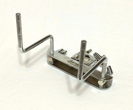 Torelli Mini Rack Cromado 2 Hastes Bateria Percussão TA402