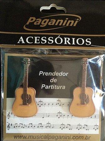 Paganini Prendedor De Partitura Clipets Violão PPT082 Metal