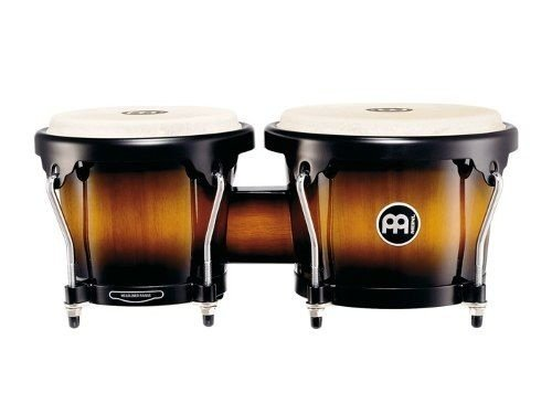 Meinl Wood Bongo Percussão Madeira 6 3/4 & 8 Pele Couro