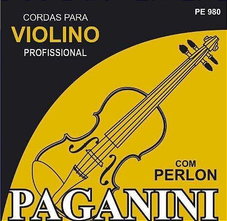 Paganini Jogo De Corda Violino C/ Perlon PE980 Profissional