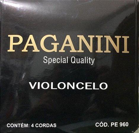 Paganini Jogo De Corda Violoncelo PE960