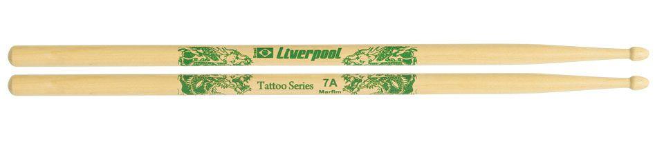Liverpool Baqueta Tattoo Series Dragão Marfim 7a P.m Le7am