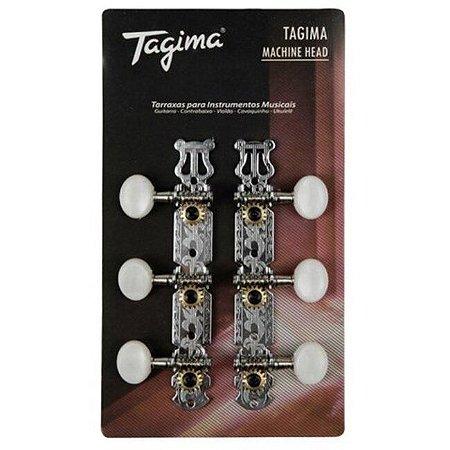 Tagima Tarraxa Blindada Para Violão Nylon Cromada TMH 831-CR