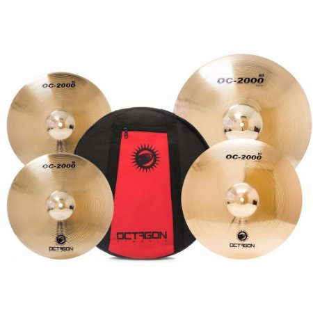 Kit Set Octagon 14/16 /20 C/ Bag OC01 Pratos P/ Bateria