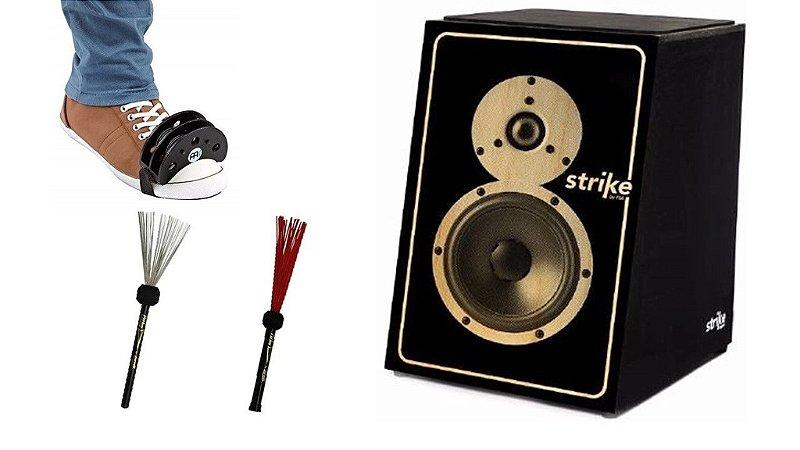 Cajón Fsa Strike Soundbox Vass Aço Nailon E Tambourine Meinl