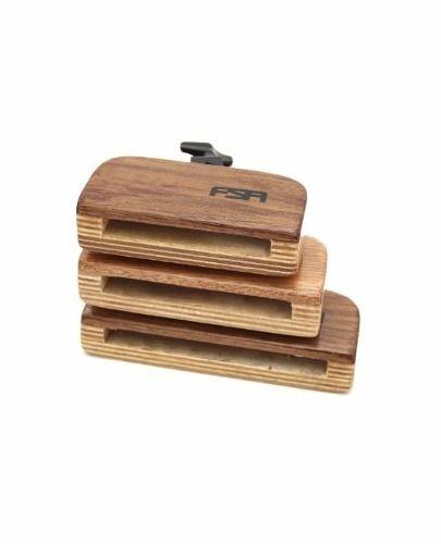 FSA Bloco Sonoro Trio Wood Block C/ Clamp FMB3031