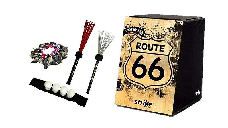 Cajón Fsa Strike Route 66 Vassoura Aço Nailon Canela E Unha