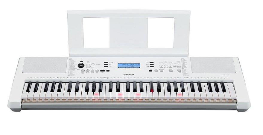 Yamaha Teclado EZ-300 Branco Teclas iluminadas