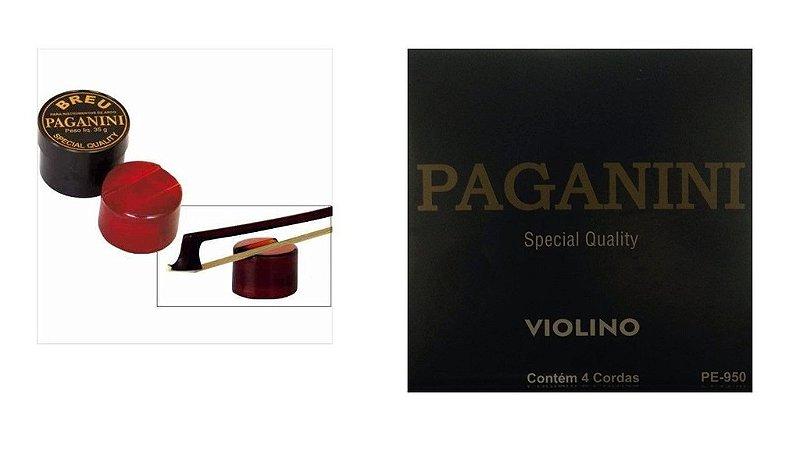 KIT Paganini Breu P/ Instrumentos De Arco + Corda Para Violino PE950