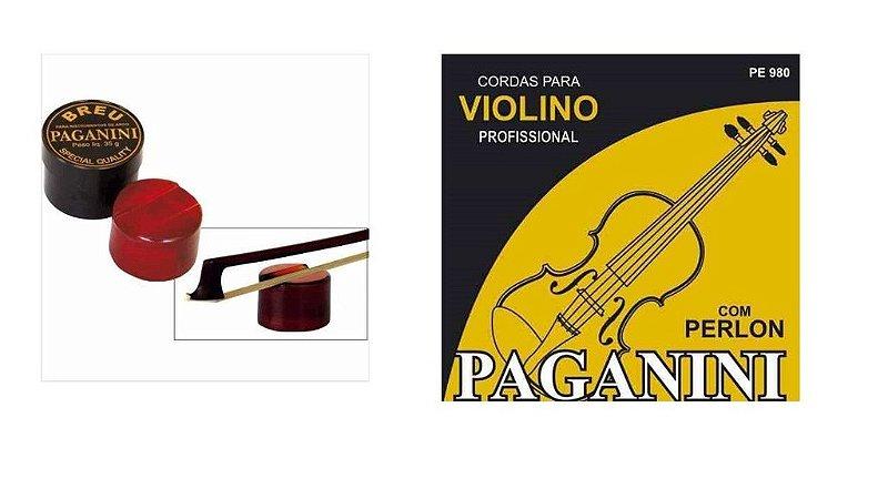 Paganini Breu P/ Instrumentos De Arco+corda Para Violino 980