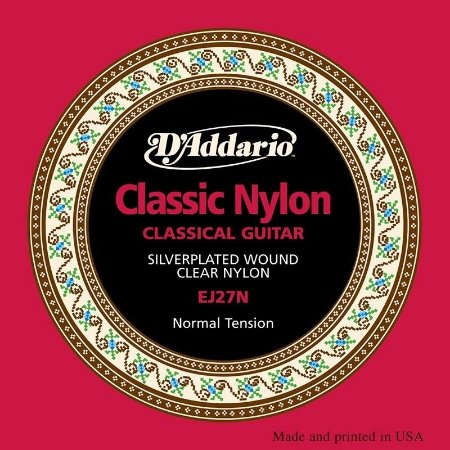D'addario Encordoamento Violão Nylon EJ27N Tensão Normal