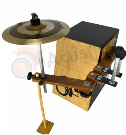 O Acústico Drum Set Cajón 3in1 Ganza Platinela Suporte prato OA152