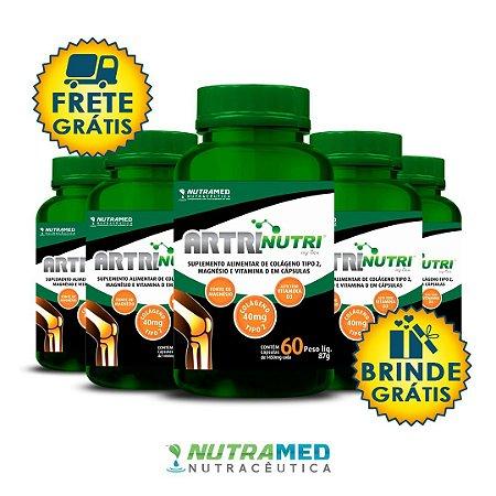Artrinutri Colágeno Tipo 2 + Magnésio + Vitamina D3 - 60 Cápsulas - Kit 5 Unidades