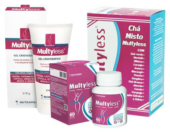 Multyless Kit 2 - Comprimidos + Gel + Chá 150g