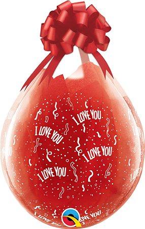 Balão 18 polegadas Estampa I Love You