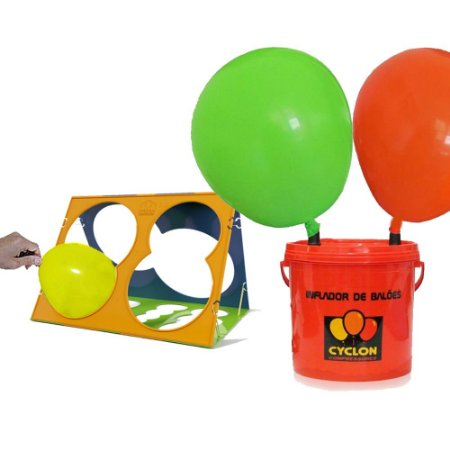Inflador Profissional de Balões 2 Bicos + Medidor de Balões Cyclon