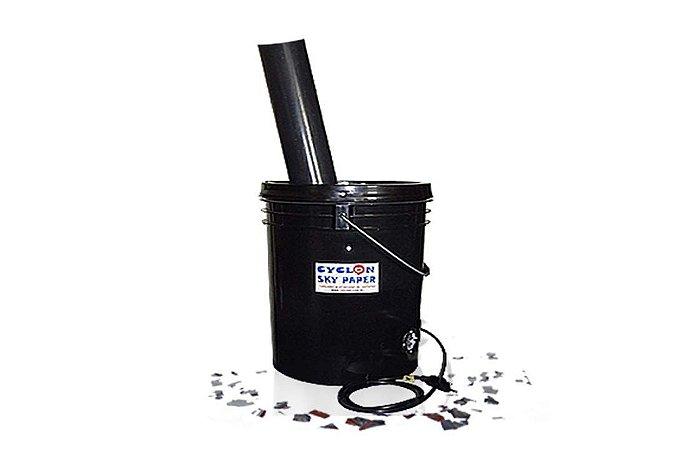 Canhão elétrico de confetes, pétalas, isopor e chuva de prata