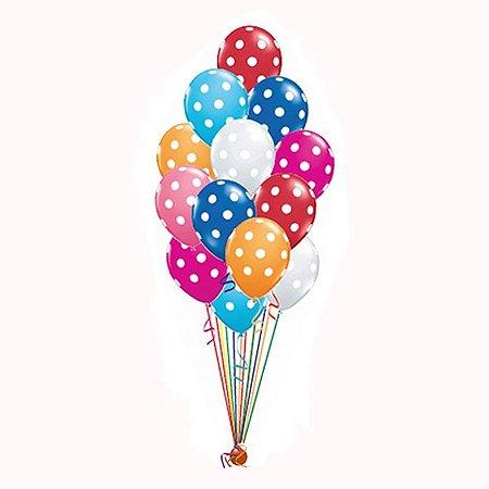 Suporte de balões - Kit com 2 bases Efeito Gás Grande (Tamanho G - 19 varetas) - Alternativa ao Gás Hélio