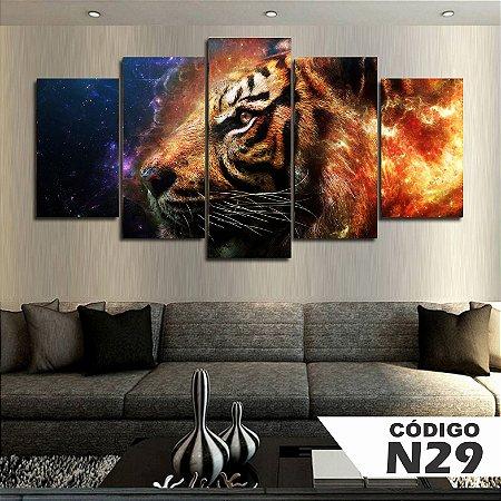 Quadros decorativos tigre água e fogo