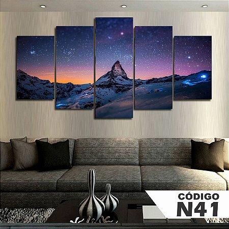 Quadros decorativos paisagem céu estrelado