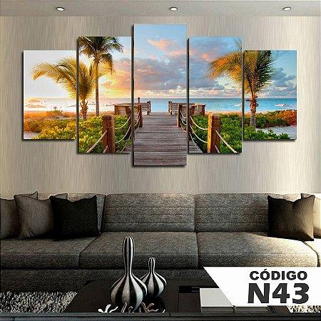 Quadros decorativos paisagem praia