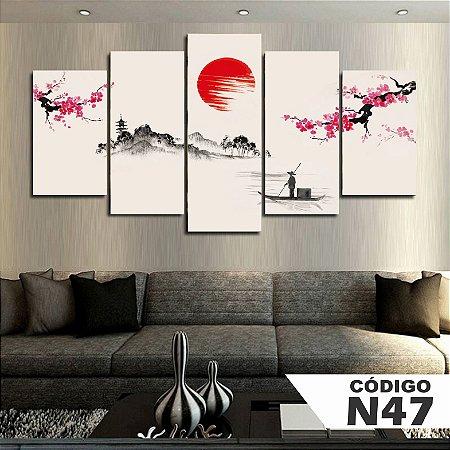 Quadros decorativos paisagem japão