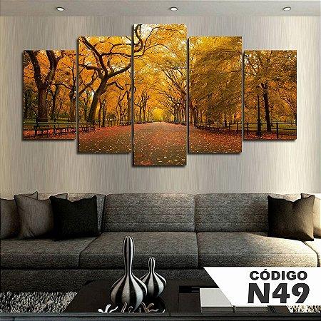 Quadros decorativos paisagem outono